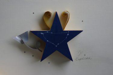 青い星の形をした飾り