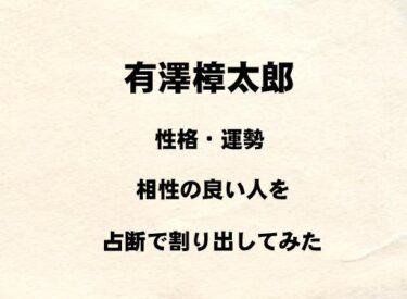 若手俳優 有澤樟太郎の性格や運勢、相性の良い人を占断で割り出してみた
