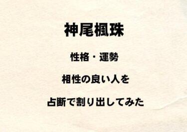 若手俳優 神尾楓珠の性格や運勢、相性の良い人を占断で割り出してみた