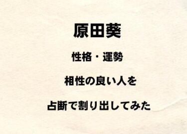 櫻坂46 原田葵の性格や運勢、相性の良い人を占断で割り出してみた!!
